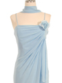 070 Baby Blue Chiffon Wrap Dress - Baby Blue, Alt View Thumbnail