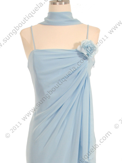 070 Baby Blue Chiffon Wrap Dress - Baby Blue, Alt View Medium