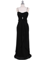 7107 Black Chiffon Evening Dress