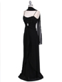 Black Chiffon Evening Dress
