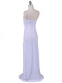 White Chiffon Evening Dress - Back Image