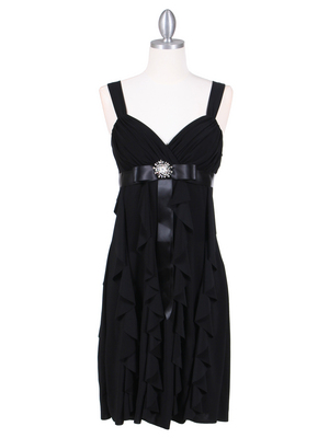 7113 Black Cocktail Dress, Black