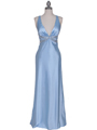 7120 Baby Blue Satin Evening Dress - Baby Blue, Front View Thumbnail
