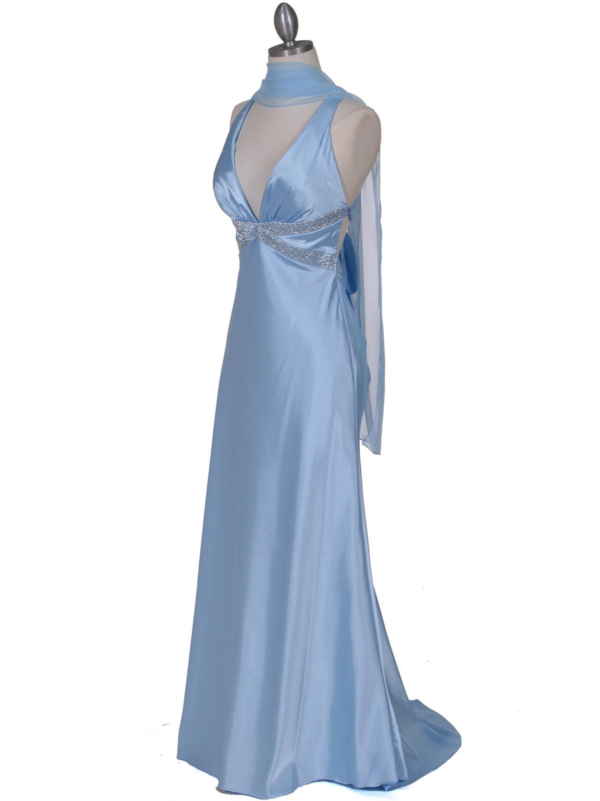 Baby Blue Satin Evening Dress Sung Boutique L A