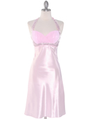 Pink Sweetheart Halter Cocktail Dress
