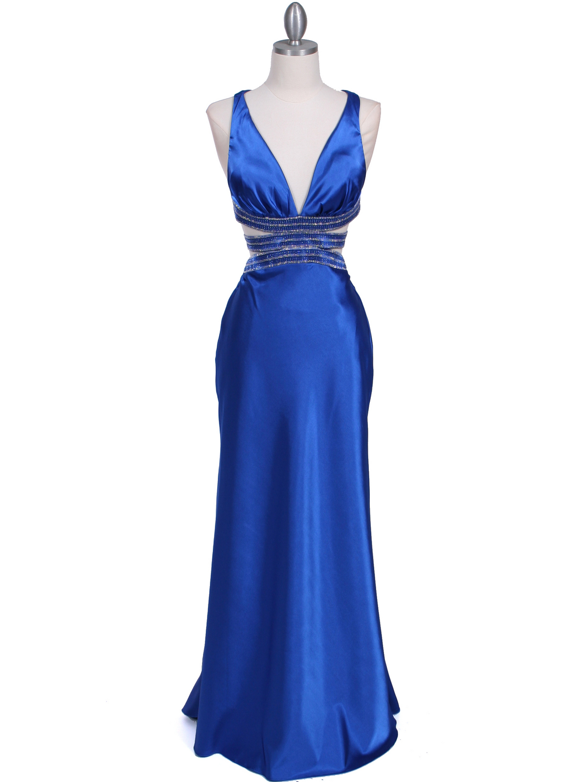 Royal blue satin cocktail dresses