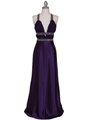7154 Purple Satin Evening Dress