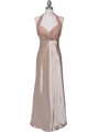 7173 Gold Halter Evening Dress - Gold, Front View Thumbnail