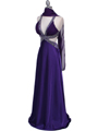 7179 Purple Satin Evening Dress - Purple, Alt View Thumbnail