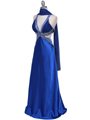 Royal Blue Satin Evening Dress - Alt Image