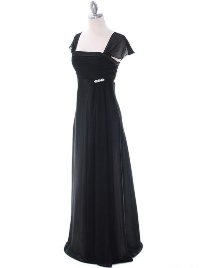 7302 Black Evening Dress - Black, Alt View Medium