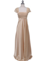 7302 Gold Evening Dress - Gold, Front View Thumbnail