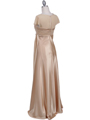 7302 Gold Evening Dress - Gold, Back View Thumbnail