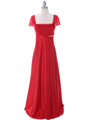 7302 Red Evening Dress