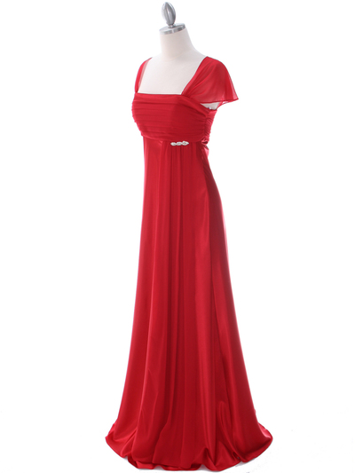 7302 Red Evening Dress - Red, Alt View Medium