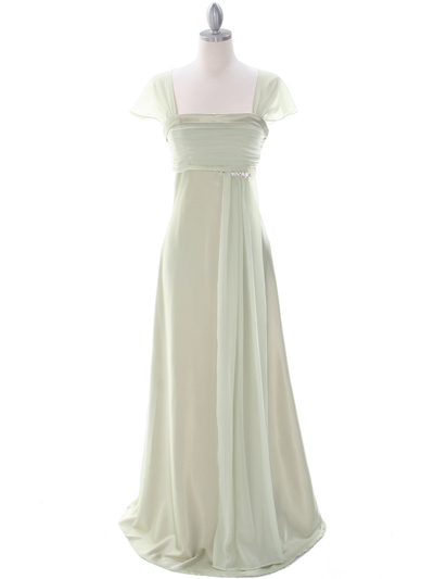 7302 Sage Mother of The Bride Dress - Sage, Front View Medium