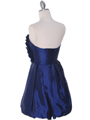 Blue Taffeta Strapless Cocktail Dress - Back Image