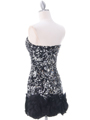 74177  Black Silver Sequin Party Dress - Back Image