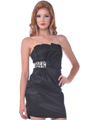 74616  Strapless Little Black Dress - Front Image