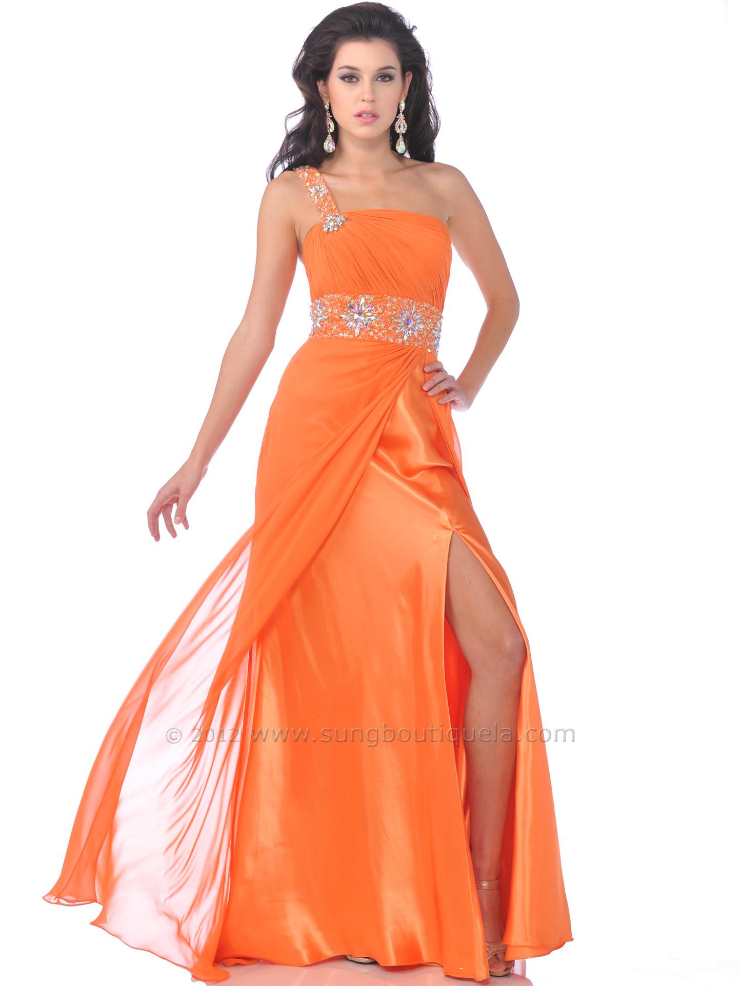One Shoulder Chiffon Prom Dress | Sung Boutique L.A.
