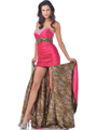 7558 Fuschia Strapless Sweetheart Prom Dress with Removable Train