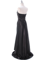 7700 Black Charmeuse Evening Dress - Black, Back View Thumbnail
