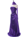 Purple Charmeuse Evening Dress