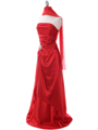 Red Charmeuse Evening Dress