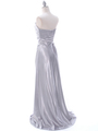 7700 Silver Charmeuse Bridesmaid Dress - Silver, Back View Thumbnail