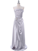 7700 Silver Charmeuse Bridesmaid Dress, Silver