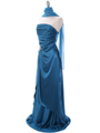 Teal Charmeuse Evening Dress