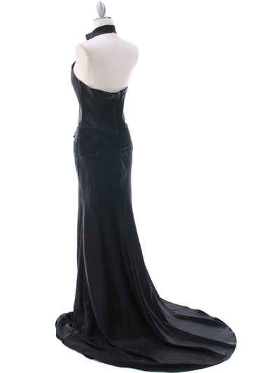 7701 Black Evening Dress - Black, Back View Medium
