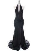 7701 Black Evening Dress, Black