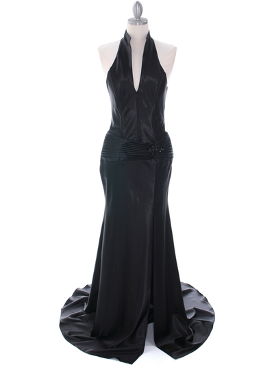 7701 Black Evening Dress - Black, Front View Medium