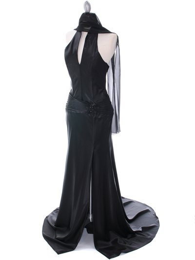 7701 Black Evening Dress - Black, Alt View Medium