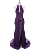 7701 Dark Purple Evening Dress, Dark Purple