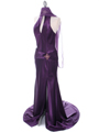7701 Dark Purple Evening Dress - Dark Purple, Alt View Thumbnail