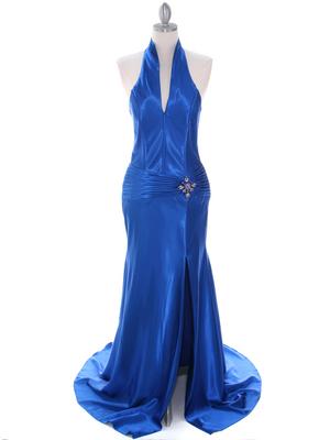 7701 Royal Blue Evening Dress, Royal Blue