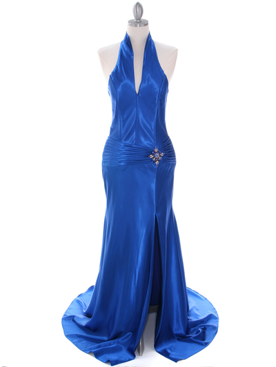 7701 Royal Blue Evening Dress - Royal Blue, Front View Medium