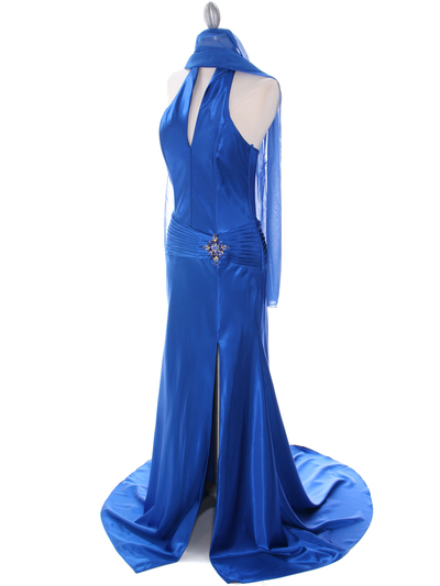 7701 Royal Blue Evening Dress - Royal Blue, Alt View Medium