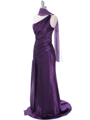 Purple Evening Dress with Rhinestone Straps