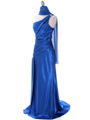 Royal Blue Evening Dress with Rhinestone Straps