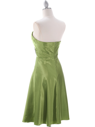 7703 Green Homecoming Dress - Green, Back View Medium