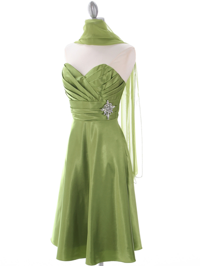 7703 Green Homecoming Dress - Green, Alt View Medium