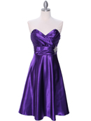 7703 Purple Tea Length Dress, Purple