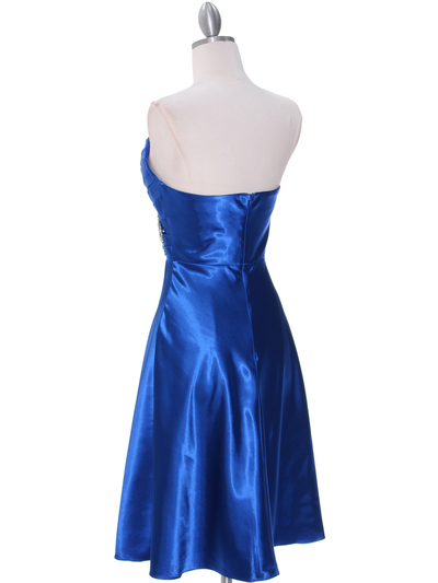 7703 Royal Blue Cocktail Dress - Royal Blue, Back View Medium