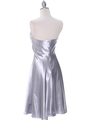 7703 Silver Bridesmaid Dress - Silver, Back View Thumbnail