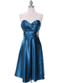 7703 Teal Bridesmaid Dress - Teal, Front View Thumbnail