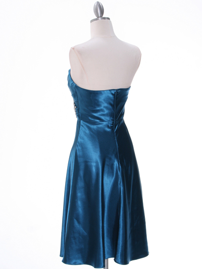 7703 Teal Bridesmaid Dress - Teal, Back View Medium