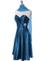 7703 Teal Bridesmaid Dress - Teal, Alt View Thumbnail